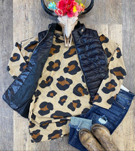 The Leopard Waffle Top