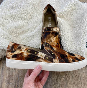 The Wild West Cow Hide Shoes