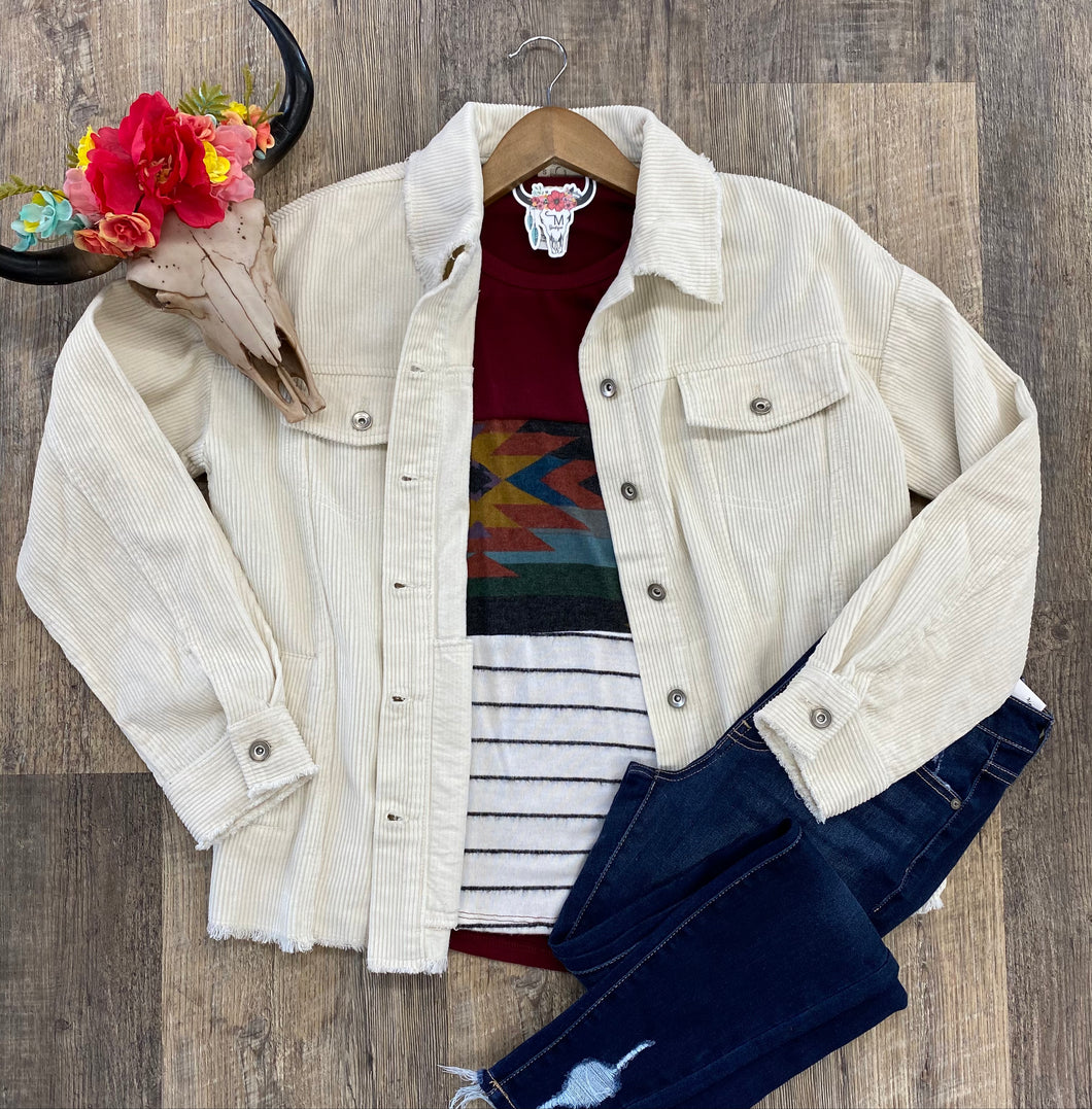 The Cream Corduroy Jacket