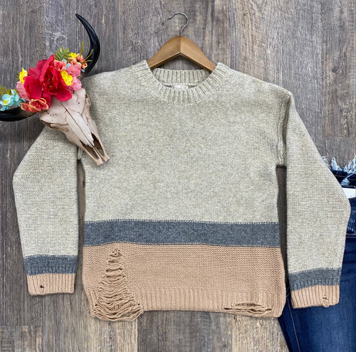 The Ramsey Distressed Sweater