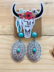 The Turquoise Concho Earrings