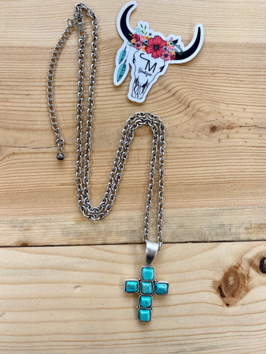 The Turquoise Cross Necklace