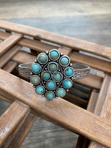 The Turquoise Concho Cuff