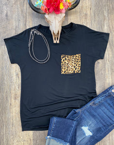 The Leopard Pocket Top