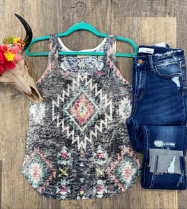 The Burnout Aztec Tank