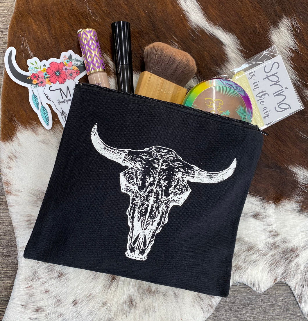 The Bull Skull Make-up Bag
