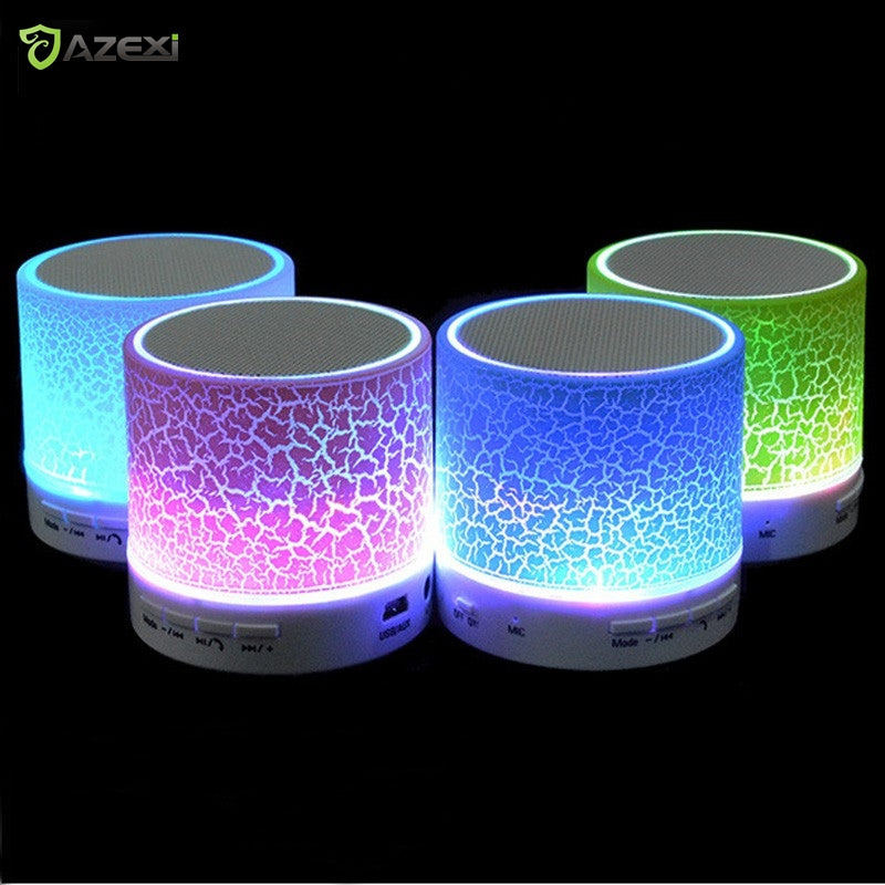 Column LED Mini Wireless Bluetooth Speaker TF USB FM