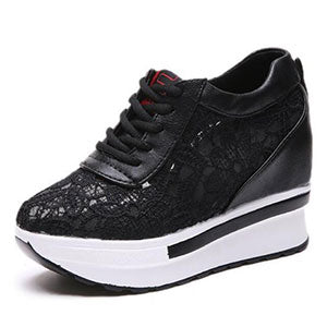 Breathable Lace Platform Shoes