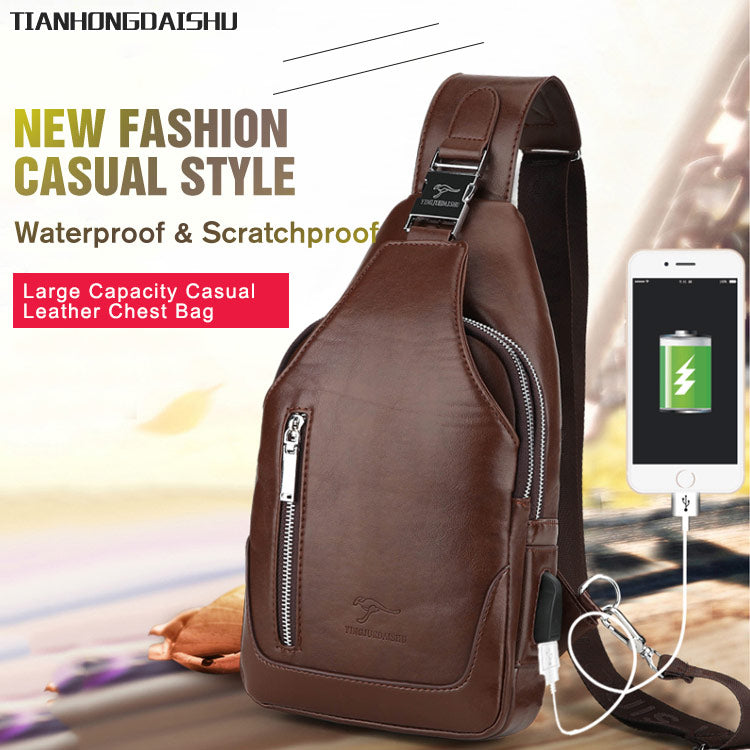 TIANHONGDAISHU Men's Casual Chest Bag