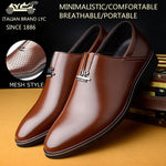 LYC Men's Stylish Business Leather Shoes