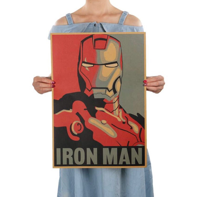 Iron Man Movie Poster - The Room Bloom