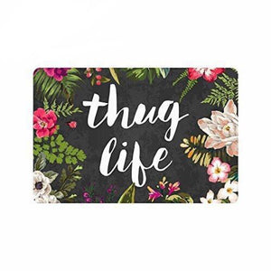 Floral Thug Life Floormat - The Room Bloom