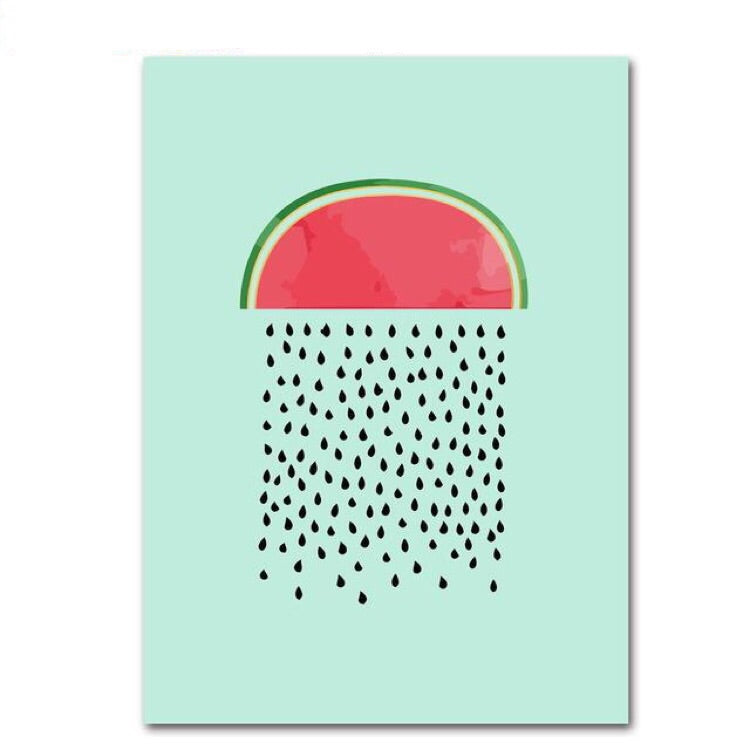 Minimalist Watermelon Canvas Paintings - The Room Bloom