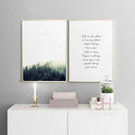 Forest and Quote Canvases - The Room Bloom