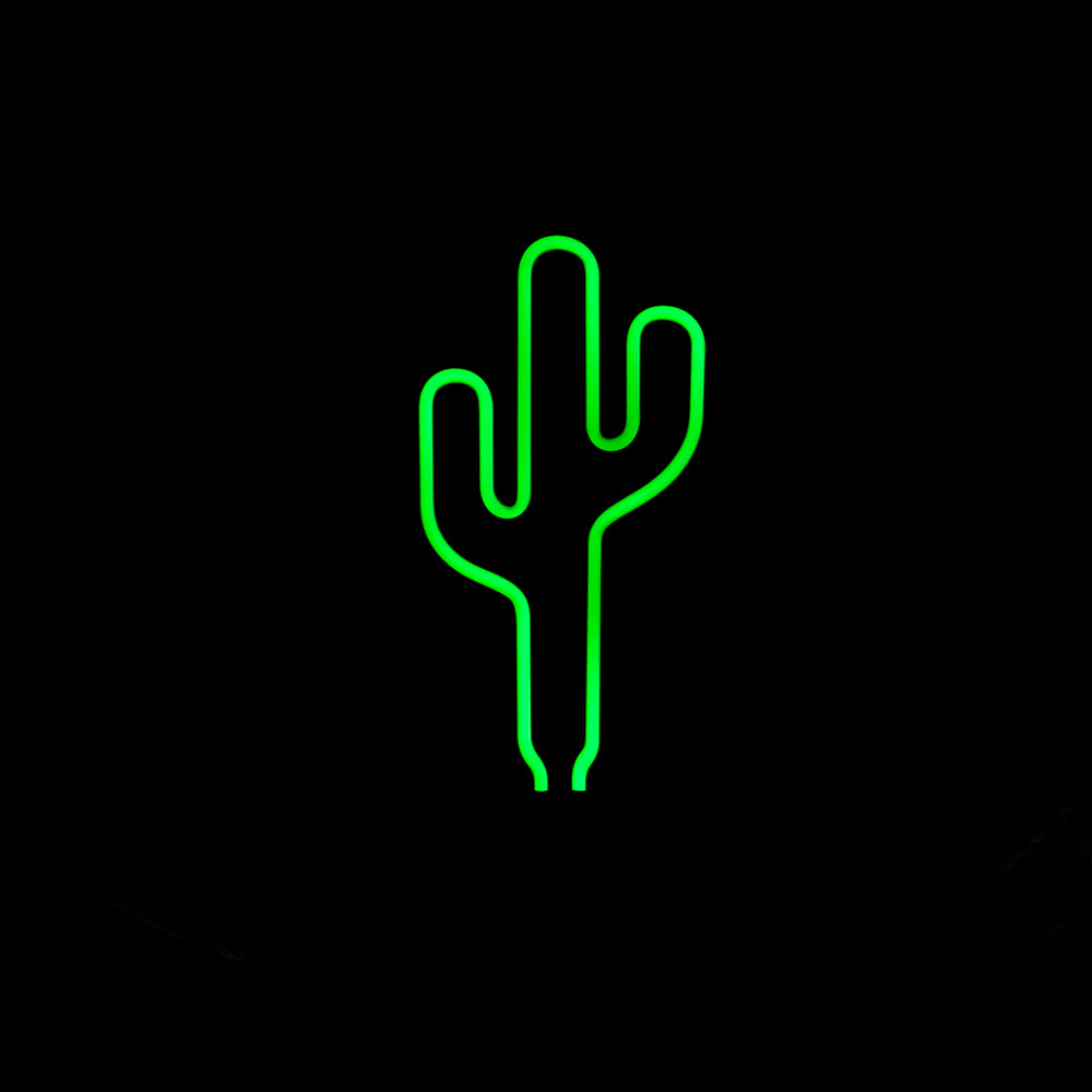 Green Cactus Neon Sign - The Room Bloom