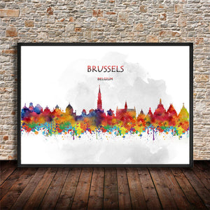 Abstract City Skyline Posters - The Room Bloom