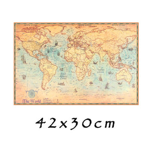 Vintage Rustic World Map - The Room Bloom