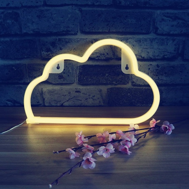 Above The Clouds Neon Sign