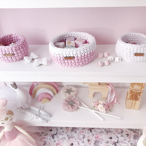 Crochet Baskets - Medium