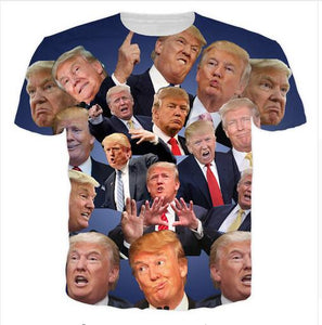 T Shirt Hot Trump 3D Slim Fit Brand Clothing Casual Streetwear Mens T Shirts Fashion 2017 Donald Trump Fitness Jersey S-5XL - magashoponline