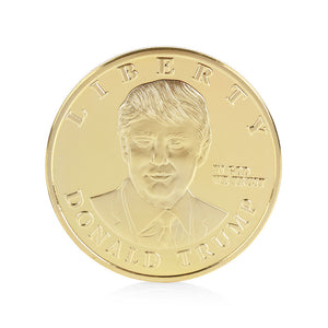 Coins Gift Gold Plated Zodiac US Presidential Candidate Donald Trump Commemorative Coin Collection Gifts - magashoponline