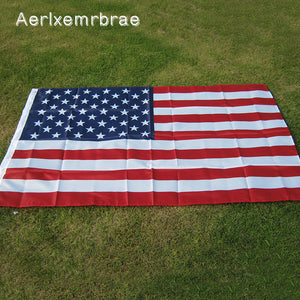 free shipping aerxemrbrae flag150x90cm us flag  High Quality Double Sided Printed Polyester American Flag Grommets USA Flag - magashoponline