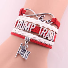 Little Minglou Infinity Love American presidential election TRUMP TRAIN bracelet flag charm bracelets & bangles for women men - magashoponline