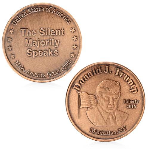 Donald Trump 45Th US President Commemorative Challenge Collection Coin Token - magashoponline