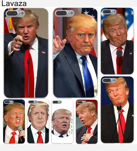 Donald Trump Hard Transparent Case for iPhone 8 8 plus 7 7 Plus X (10) 6 6s Plus 5 5S SE 5c 4 4S - magashoponline