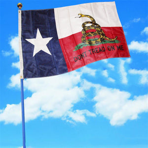 90*150cm 3x5 FT Texas Yellow Snake Flag Dont Tread On Me 100D Double-sided Texas State National Flag Banner Dont tread on me - magashoponline