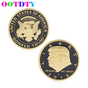 Donald Trump Design Commemorative Coin Zinc Alloy Commemorative Coin Collection No-currency Coins Gift Black Friday - magashoponline