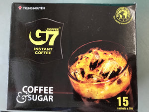 Trung Nguyen 2in1 G7 Instant Coffee & Sugar 15 sachets