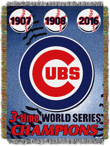 "Cubs CS OFFICIAL Major League Baseball, Commemorative 48""x 60"" Woven Tapestry"
