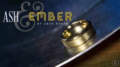 Ash and Ember Gold Beveled Size 7 (2 Rings) by Zach Heath - Trick
