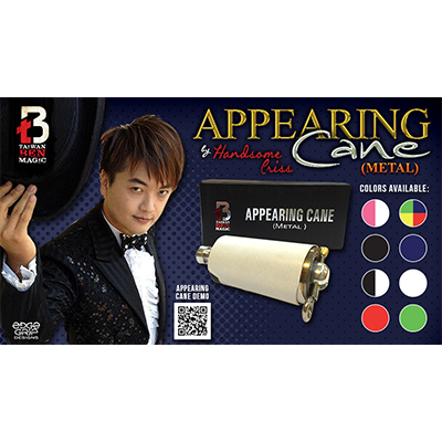 Appearing Cane (Metal / Black & White) by Handsome Criss and Taiwan Ben Magic - Trick