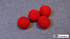 Crochet Balls (Red 1.75 inch) by Mr. Magic - Trick