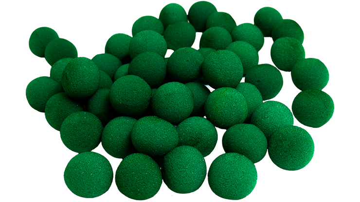1 inch Super Soft Sponge Ball (Green) Bag of 50 from Magic By Gosh