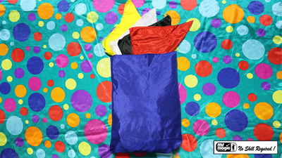 Bag to Happy Birthday Silk (36 inch  x 36 inch) by Mr. Magic - Trick