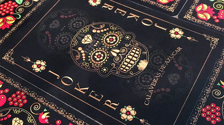 Calaveras de Azúcar Black Edition Playing Cards Printed by USPCC