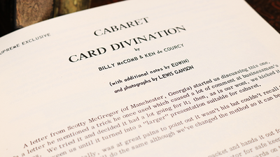 Cabaret Card Divination by Billy McComb and Ken de Courcy - Book