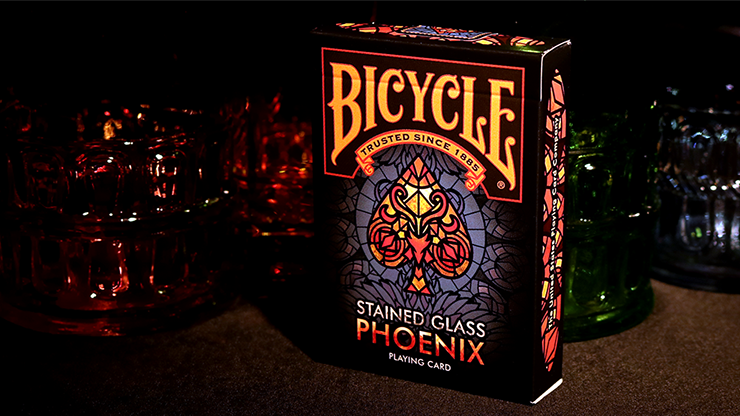 Bicycle Stained Glass Phoenix Playing Cards Hey Presto Magic