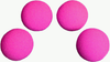 1.5 inch High Density Ultra Soft Hot Pink Sponge Ball Set from Magic by Gosh