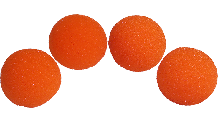 1.5 inch High Density Ultra Soft Orange Sponge Ball Set from Magic by Gosh