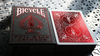 Bicycle Rider Back Crimson Luxe (Red) Version 2 by US Playing Card Co
