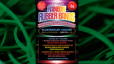 Joe Rindfleisch's SIZE 16 Rainbow Rubber Bands (Marcus Eddie - Green Pack ) by Joe Rindfleisch