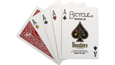 Hesslers Rider Back (Red) Playing Cards