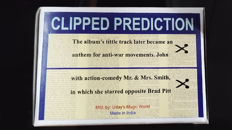 CLIPPED PREDICTION by Uday
