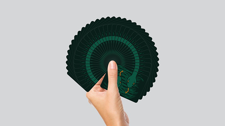 The Serpent (Green) Playing Cards