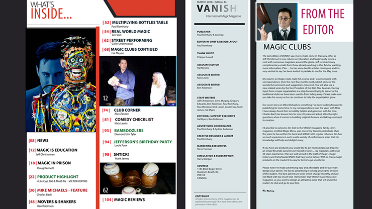Vanish Magazine #44 eBook DOWNLOAD