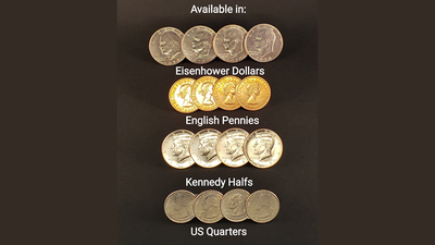 Symphony Coins Gimmicks and Online Instructions by RPR Magic Innovations